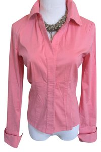 BCBGMAXAZRIA Button Down Shirt Salmon