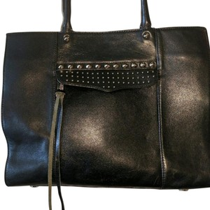 Rebecca Minkoff Studded Leather Work Travel Tote in Black