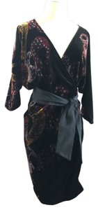 Diane von Furstenberg short dress Black multi color Wrap Dvf on Tradesy