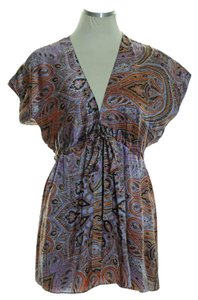 Alice & Trixie Woven 10% Silk Paisley Top Purple Multi