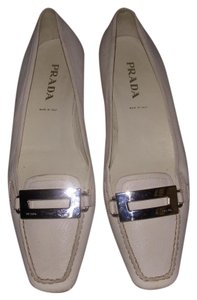 Prada Loafers Ivory White Flats