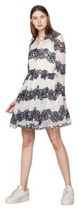 Maje short dress White/Navy Party Elegant Romantic Lace on Tradesy