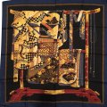 Wathne Wathne Silk Twill Scarf with Japanese Robes on Stand Image 0