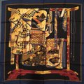 Wathne Wathne Silk Twill Scarf with Japanese Robes on Stand Image 1