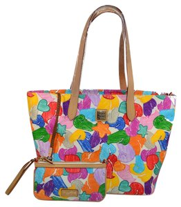Dooney & Bourke Ducks Zip 2 & Tote in Wh / Multi