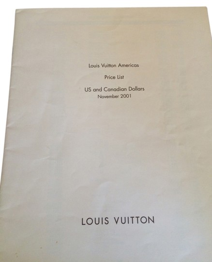 Preload https://item1.tradesy.com/images/louis-vuitton-beige-november-2001-americas-price-list-1952845-0-0.jpg?width=440&height=440