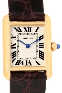 Cartier Cartier Tank Louis 18k Yellow Gold Brown Strap Small Watch W1529856