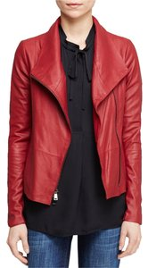 Vince Scuba Leather Red Leather Jacket