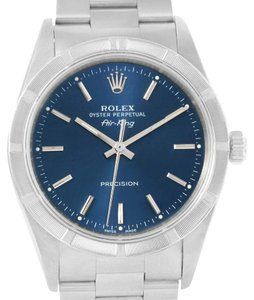 Rolex Rolex Air King Blue Dial Oyster Bracelet Steel Mens Watch 14010