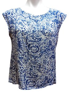 Cupio New With Tags Top Blue/White