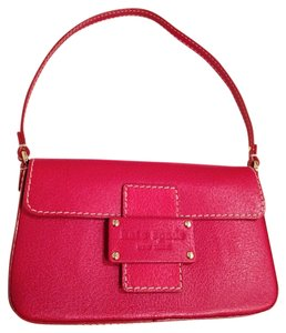Kate Spade Leather Red Clutch