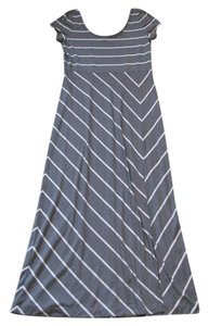 Gray with white stripes Maxi Dress by Tommy Bahama