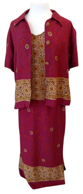 Item - Maroon and Gold & Co. 3 Piece Skirt Suit Size 10 (M)