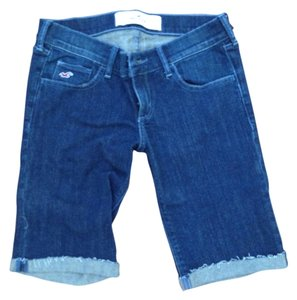 Hollister Summer Cutoff Stretchy Bermuda Shorts Denim