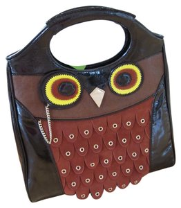 Kate Spade Leather Owl Tote in brown