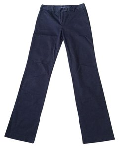 Aquascutum Straight Pants Navy Blue