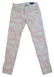 American Eagle Outfitters Jeggings Print Stretchy Skinny Pants Blush