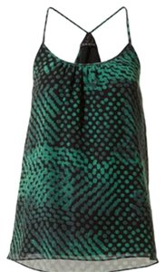 Theory Top Black & green patterned