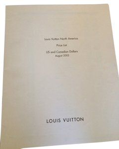 Louis Vuitton August 2003 Edition Louis Vuitton North America Price List