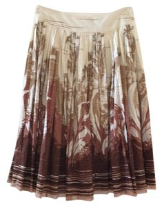 Elie Tahari Skirt Brown, cream and tan.