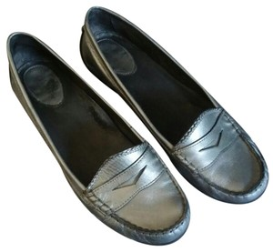 Cole Haan Loafers Metallic Silver Flats
