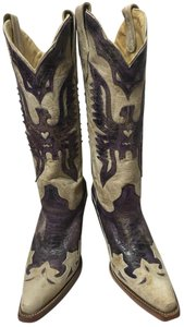 Corral Boots Distressed White/Purple Boots