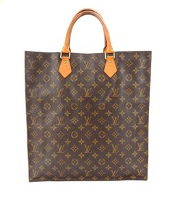 Louis Vuitton Sac Plat Monogram Tote in Brown