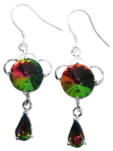 Other Sterling Silver Filled Rainbow Topaz Earrings J2903