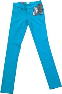 Mudd Jeggings Denim Color Color-blocking Skinny Pants Blue