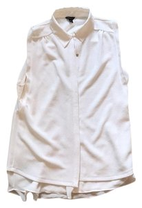 Ann Taylor Button Down Shirt Ivory