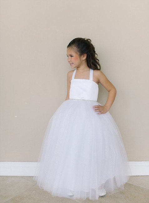 Item - Ivory Tulle Fg102 Bridesmaid/Mob Dress Size 6 (S)