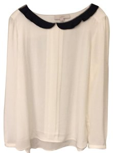 Ann Taylor LOFT Top Black white