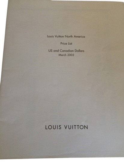 Louis Vuitton March 2003 Edition Louis Vuitton North AmericaPrice List in US and Canadian Dollars