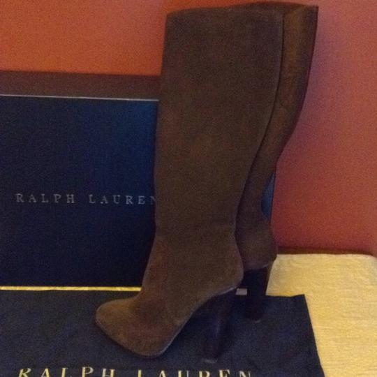Ralph Lauren Collection Suede Brown Boots Image 1