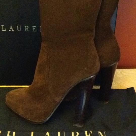 Ralph Lauren Collection Suede Brown Boots Image 2