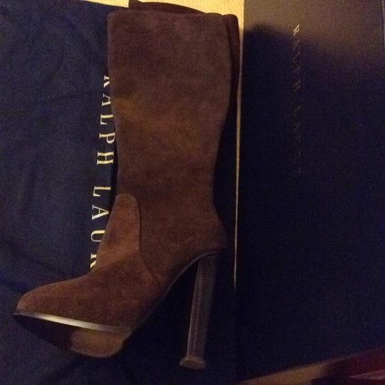 Ralph Lauren Collection Suede Brown Boots Image 3