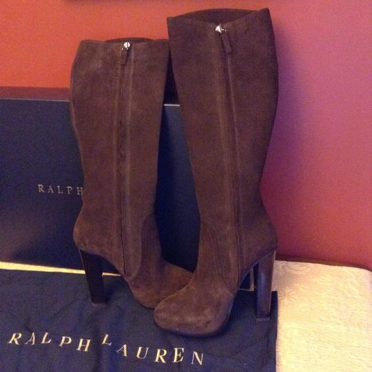 Ralph Lauren Collection Suede Brown Boots Image 6