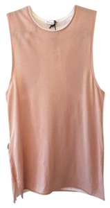 Rag & Bone Muscle Double Layer Tank T Shirt dusty rose