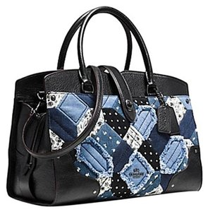 Coach Satchel in Dark Gunmetal Denim