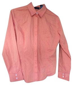 New York & Company Button Down Shirt Orange