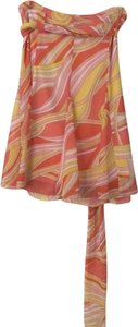 Moda International Skirt Orange, Yellow, Pink, Gold