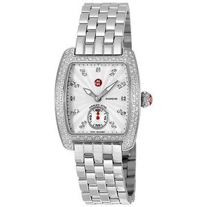 Michele Michele Mini Urban Silver Diamond Dial Ladies Watch