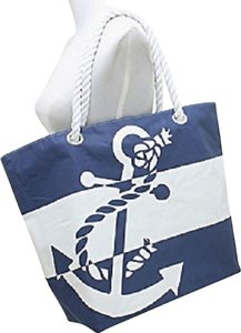 Tote in Blue and White