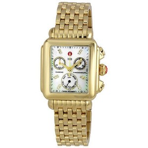 Michele Michele Deco Day Diamond Gold-tone Ladies Watch