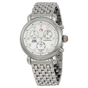 Michele Michele Csx Mother Of Pearl Diamond Dial Chronograph Ladies Watch