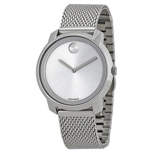 Movado Movado Bold Silver Dial Stainless Steel Mesh Ladies Watch