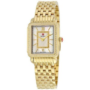 Michele Michele Deco Ii Mother Of Pearl Diamond Dial Ladies Watch