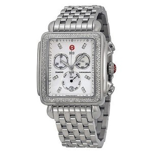 Michele Michele Deco Mother Of Pearl Stainless Steel Ladies Watch