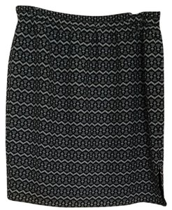 Ann Taylor LOFT Skirt Black And White