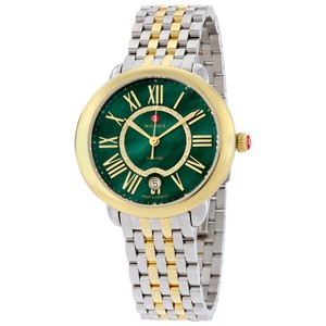 Michele Michele Serein Green Mother Of Pearl Dial Ladies Watch